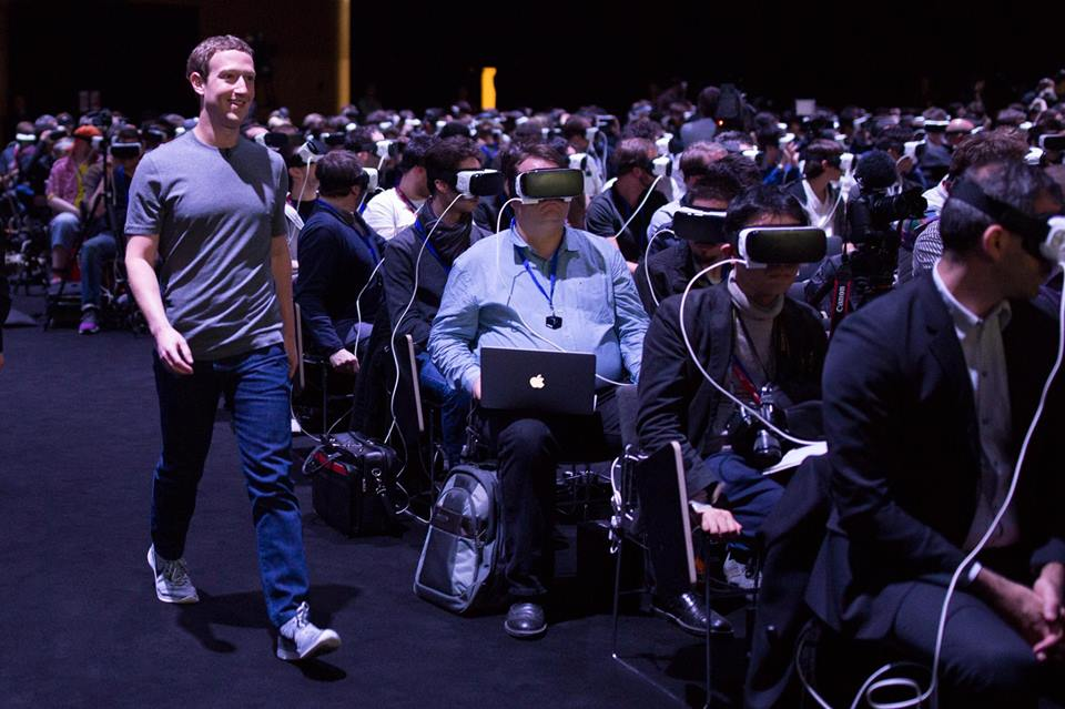 Zuckerberg all'evento Samsung